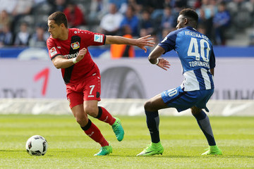 Chicharito Hertha BSC v Bayer 04 Leverkusen - Bundesliga