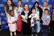 "(L-R) Grace Rose, Kennedy Lewis, Ella Annear, Natalie Portman, Elliott Fletcher, Kairi Ramirez, Pierce Kelly and Saylor Pierson attend Children's Hospital Los Angeles' 5th annual ""Make March Matter"" fundraising campaign kick-off at Childrens Hospital Of Los Angeles on March 02, 2020 in Los Angeles, California."