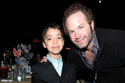 "(EXCLUSIVE COVERAGE) Ethan Bortnick and John Ondrasik of Five for Fighting pose during the Children Mending Hearts 3rd Annual ""Peace Please"" Gala held at The Music Box at the Fonda Hollywood on April 16, 2010 in Los Angeles, California."