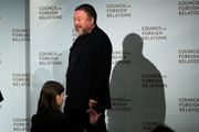 Chinese artist and activist Ai Weiwei arrives onstage at the Council of Foreign Relations, November 2, 2016 in New York City. Weiwei is in New York for four large gallery shows in the month of November. Three of the shows feature tree-inspired sculptures and the fourth will feature clothing from refugee camps that Weiwei visited.