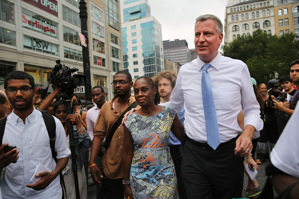 Bill de Blasio with beautiful, Wife Chirlane McCray