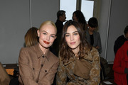 (EDITORIAL USE ONLY) Kate Bosworth and Alexa Chung attend the Chloe show as part of the Paris Fashion Week Womenswear Fall/Winter 2020/2021 on February 27, 2020 in Paris, France.