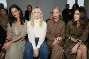 (EDITORIAL USE ONLY)  Katie Holmes, Kate Bosworth, Alexa Chung and a guest attend the Chloe show as part of the Paris Fashion Week Womenswear Fall/Winter 2020/2021 on February 27, 2020 in Paris, France.