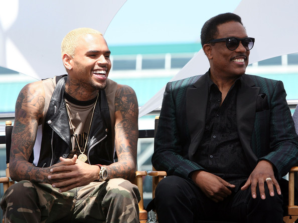 BET Awards Press Conference in LA [eyewear,sunglasses,human,fashion,cool,glasses,sitting,event,tourism,vision care,bet awards 2013 press conference,icon ultra lounge,los angeles,california,chris brown,charlie wilson]
