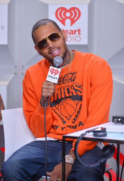 Chris Brown - iHeartRadio Music Festival - Day 1 - Backstage