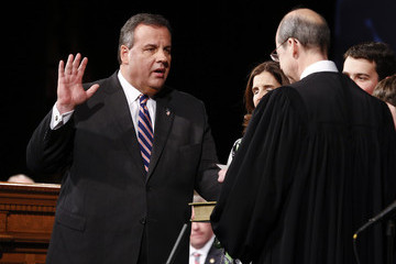 Chris Christie Mary Pat Foster Chris Christie Sworn in as Governor of New Jersey
