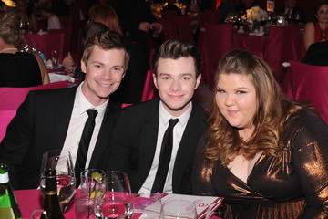Chris Colfer Ashley Fink 21st Annual Elton John AIDS Foundation Academy Awards Viewing Party - Inside