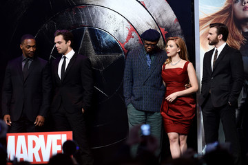 Chris Evans Anthony Mackie 'Captain America: The Winter Soldier' London Premiere