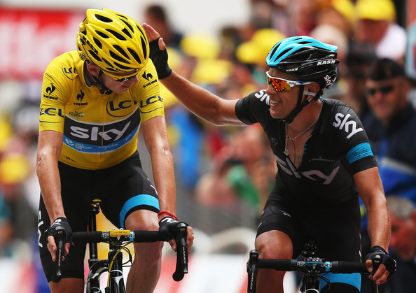 Chris froome and richie porte photos le tour de france for Richie porte tour de france