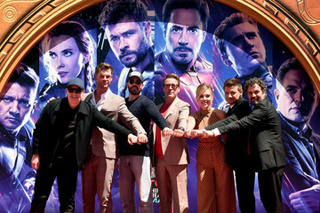 Chris Hemsworth Kevin Feige 2019 Getty Entertainment - Social Ready Content