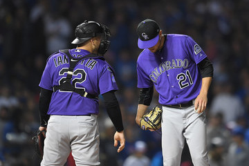 Chris Iannetta Wild Card Game - Colorado Rockies v Chicago Cubs