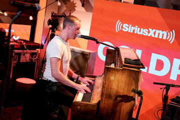 Chris Martin Coldplay Performs Exclusive Stripped-Down Set For SiriusXM And Pandora At The SiriusXM Hollywood Studios In Los Angeles