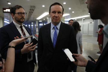 Chris Murphy Senate Lawmakers Speak To The Media After Their Weekly Policy Luncheons