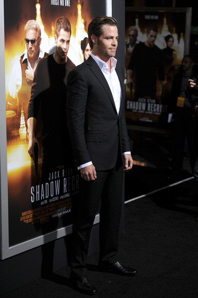 "Premiere Of Paramount Pictures' ""Jack Ryan: Shadow Recruit"" - Arrivals [jack ryan: shadow recruit,suit,premiere,event,formal wear,white-collar worker,tuxedo,carpet,movie,flooring,arrivals,chris pine,tcl chinese theatre,california,hollywood,paramount pictures,premiere,premiere]"