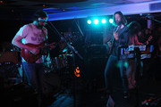 Guitarist Neal Casal (L) and Lead singer Chris Robinson of the music group Chris Robinson Brotherhood performs on stage at Luxury Infinity Yacht on June 6, 2014 in New York City.