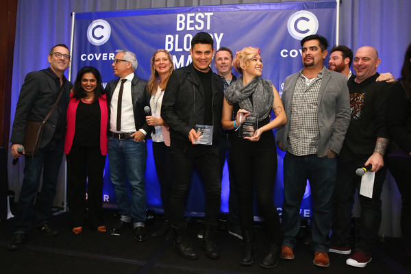 Best Bloody Mary Brunch Presented by Velocity [event,product,team,community,award,company,media,brand,competition,performance,velocity,l-r,food,bloody mary brunch presented,best bloody mary brunch,maneet chauhan,ted allen,amanda freitag,geoffrey zakarian,scott conant]