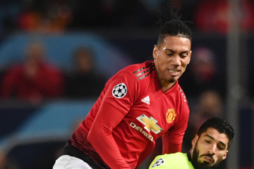 Chris Smalling Manchester United Vs. FC Barcelona - UEFA Champions League Quarter Final: First Leg