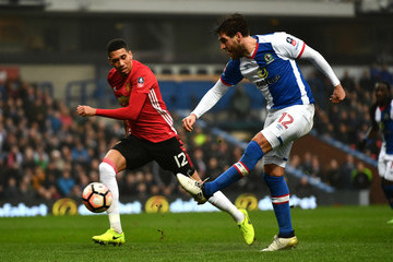 Chris Smalling Blackburn Rovers v Manchester United - The Emirates FA Cup Fifth Round