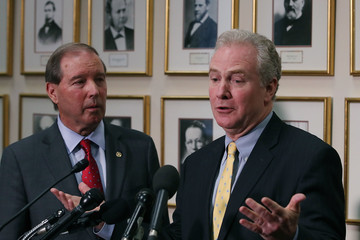 Chris Van Hollen Senate Democrats Speak To Media After Scott Pruitt Budget Hearing
