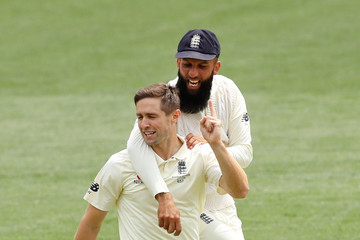 Chris Woakes Moeen Ali Australia v England - Second Test: Day 4