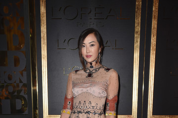 Chriselle Lim Gold Obsession Party - L'Oreal Paris : Photocall - Paris Fashion Week Womenswear Spring/Summer 2017