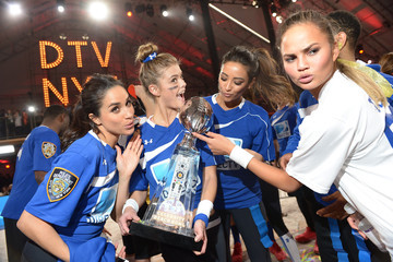 Chrissy Teigen Nina Agdal DirecTV Celebrity Beach Bowl - Game