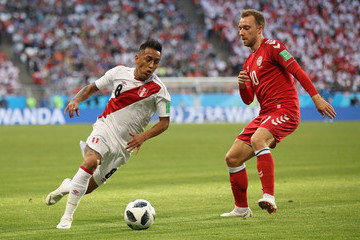 Christian Cueva Peru vs. Denmark: Group C - 2018 FIFA World Cup Russia