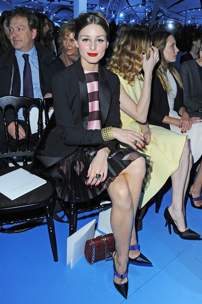 Olivia+Palermo in Christian Dior - Front Row - PFW F/W 2013