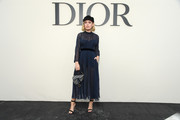 Tanya Burr attends the Christian Dior show as part of the Paris Fashion Week Womenswear Spring/Summer 2019 on September 24, 2018 in Paris, France.