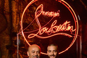 Christian Louboutin and Maluma attend the Loubicircus Party by Christian Louboutin at Musee des Arts Forains as part of Paris Fashion Week on June 19, 2019 in Paris, France.