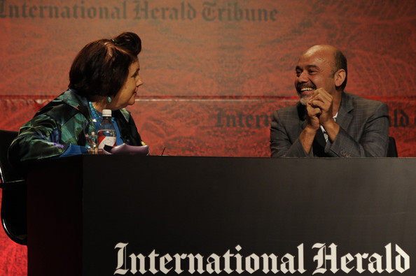 International Herald Tribune's Luxury Business Conference - Sao Paulo 2011 - Day 1 [speech,conversation,event,public speaking,interaction,spokesperson,adaptation,academic conference,convention,orator,christian louboutin,suzy menkes,sao paulo,brazil,hotel unique,international herald tribune,luxury business conference]