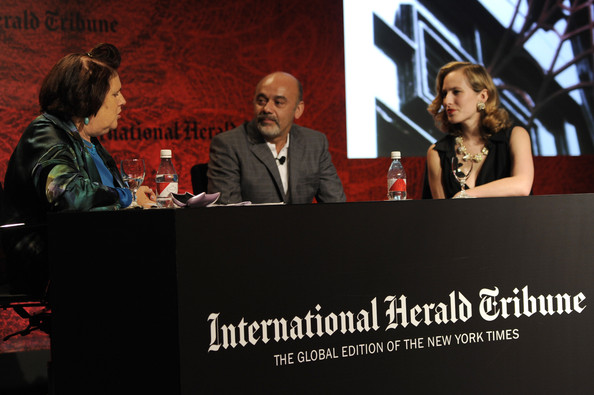 International Herald Tribune's Luxury Business Conference - Sao Paulo 2011 - Day 1 [event,news conference,conversation,speech,adaptation,media,convention,spokesperson,public speaking,brand,christian louboutin,charlotte dellal,suzy menkes,sao paulo,brazil,hotel unique,international herald tribune,luxury business conference]