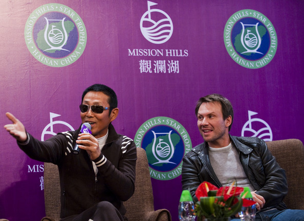 Christian Slater Chinese actor Chan Dao Ming and actor Christian Slater attend the opening  press conference of the Mission Hills Star Trophy on October 27, 2010 in Haikou, China. The Mission Hills Star Trophy is Asia's leading leisure liflestyle event and features Hollywood celebrities and international golf stars.