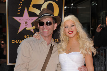 Ron Fair Christina Aguilera Honored On The Hollywood Walk Of Fame