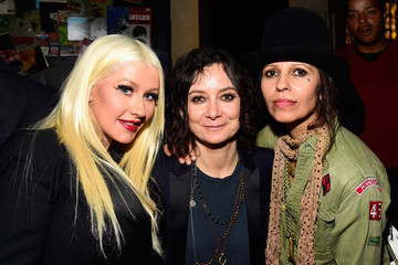 Christina Aguilera Linda Perry Celebration for the Song 'Hands of Love' from the Film 'Freeheld'
