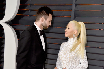 Christina Aguilera Matthew Rutler Arrivals at the Elton John AIDS Foundation Oscars Viewing Party — Part 5