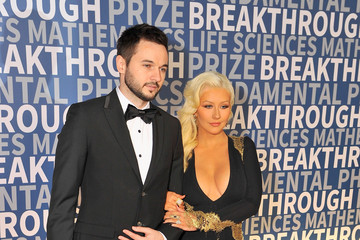 Christina Aguilera Matthew Rutler 2016 Breakthrough Prize Ceremony - Arrivals