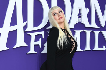 Christina Aguilera Premiere Of MGM's 'The Addams Family' - Arrivals