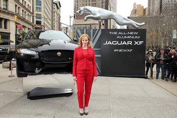 Christina Hendricks Jaguar Reveals All-New All-Aluminum XF In Flatiron District Of New York City