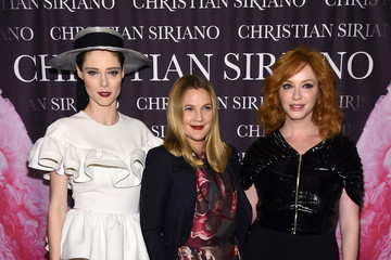 """Christina Hendricks Coco Rocha Christian Siriano Celebrates The Release Of His Book """"Dresses To Dream About"""" At The Rizzoli Flagship Store In New York"""