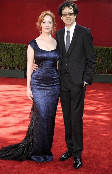 Christina Hendricks with beautiful, Husband Geoffrey Arend