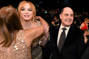 Christina Hendricks Matthew Weiner The 22nd Annual Screen Actors Guild Awards - Backstage and Audience