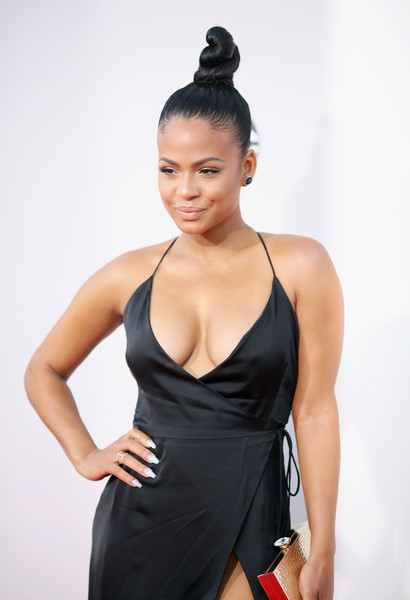 2015 American Music Awards - Arrivals [fashion model,shoulder,model,photo shoot,black hair,thigh,muscle,neck,long hair,active undergarment,arrivals,christina milian,american music awards,microsoft theater,los angeles,california]