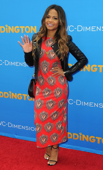 "Premiere Of TWC-Dimension's ""Paddington"" - Arrivals [paddington,clothing,carpet,red carpet,premiere,dress,electric blue,formal wear,flooring,fashion design,long hair,arrivals,christina milian,california,hollywood,twc-dimension,tcl chinese theatre imax,premiere,premiere]"