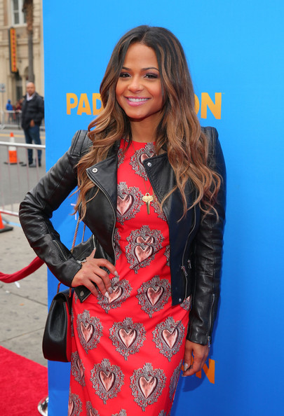 """Premiere Of TWC-Dimension's """"Paddington"""" - Red Carpet [paddington,clothing,leather,hairstyle,premiere,fashion,leather jacket,jacket,carpet,long hair,textile,red carpet,christina milian,california,hollywood,tcl chinese theatre imax,twc-dimension,premiere,premiere]"""