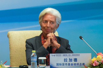 Christine Lagarde The 1+6 Round Table Dialogue & Joint Press Conference