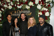 """(L-R) David Kater, Kathryn Smith, Jc Chasez, Autumn Federici, and Manny Streez attend """"A Christmas Arrangement"""" Los Angeles premiere at Garry Marshall Theatre on November 14, 2018 in Burbank, California."""