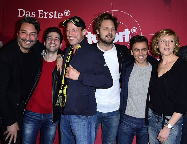 'Tatort: Zorn Gottes' Premiere In Hannover [oezguer yildirim,mousse t.,wotan wolke moehring,christoph letkowski,cem ali gueltekin,franziska weisz,grand astor,tatort: zorn gottes premiere,cinema,social group,event,fun,party,premiere,smile,hannover]
