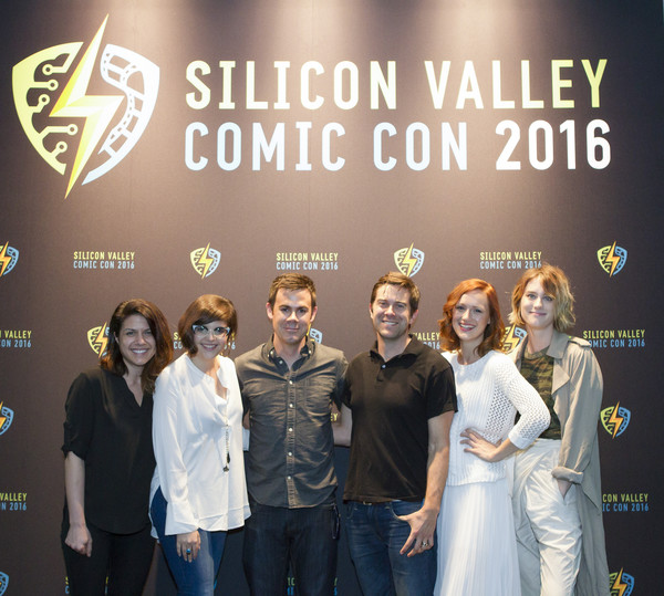 AMC's 'Halt and Catch Fire' Panel at Silicon Valley Comic Con [halt and catch fire,event,premiere,team,award ceremony,mackenzie davis,christopher rogers,kerry bishe,julie ann crommett,parisa tabriz,silicon valley comic con,l-r,panel,amc]