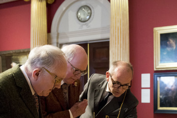 Christopher Lebrun Gilbert & George Receive Their Medals at the Royal Academy Of Arts